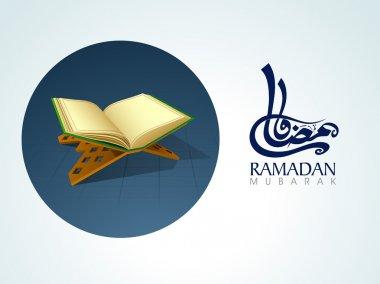 Ramadan Kareem celebration with islamic book Quran Shareef.