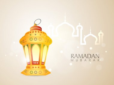 Ramadan Kareem celebration with arabic lantern.