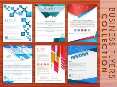 Set of business flyers.