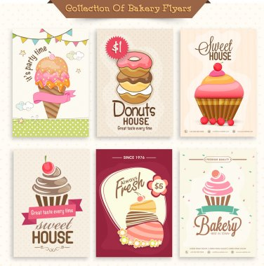 Set of Bakery Flyers.