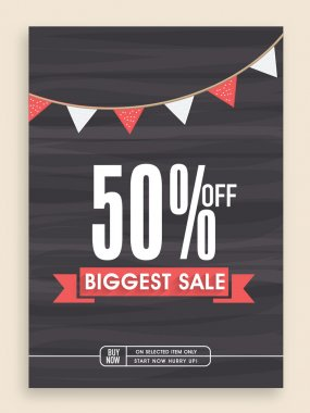 Biggest sale poster, banner or flyer design.