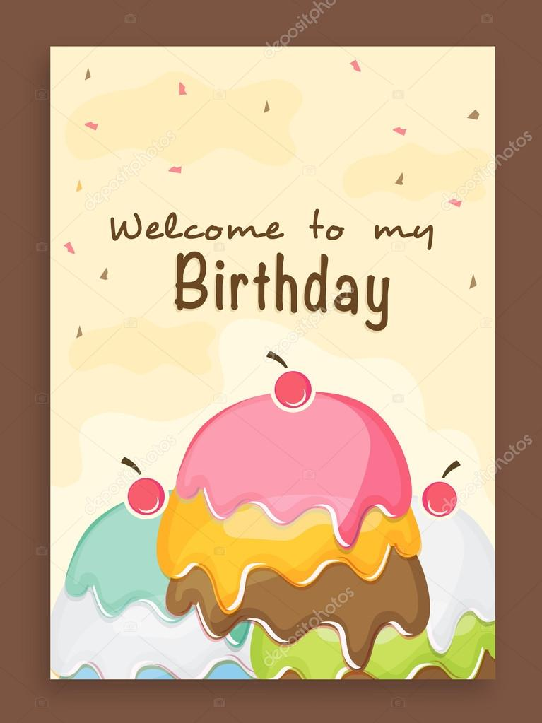 Invitation Card Design For Birthday Party Stock Vector