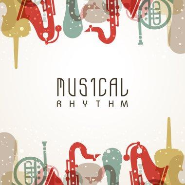 Stylish musical background.