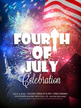 Stylish text for American Independence Day celebration.