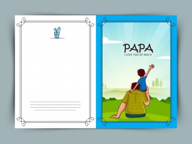 Happy Father's Day celebration greeting card.