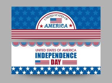American Independence Day celebration web header or banner set.
