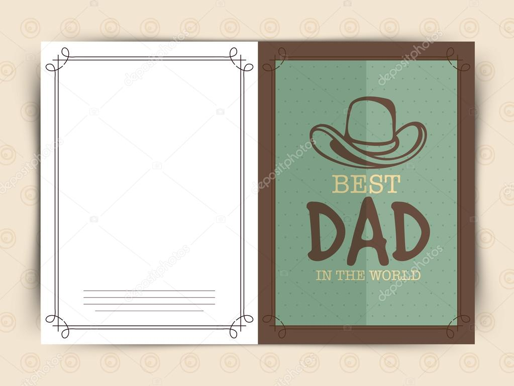 Happy Fathers Day Celebrations Greeting Card Design Stock Vector