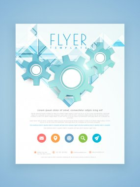 Stylish flyer, brochure or template for business.