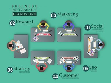 Set of creative business infographic elements.