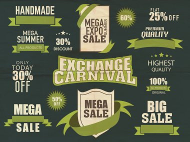 Big sale typographic collection with discount.