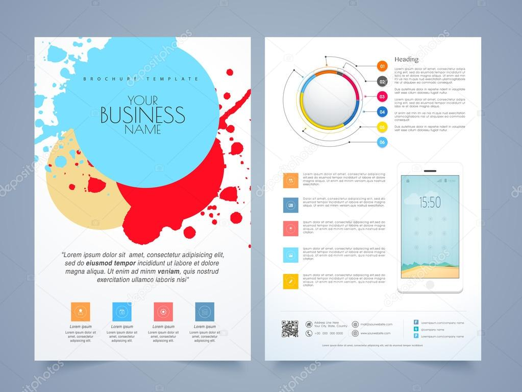Two Page Flyer Template Antaexpocoachingco - Two page brochure template