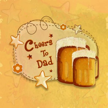 Greeting card with beer for Father's Day celebration.
