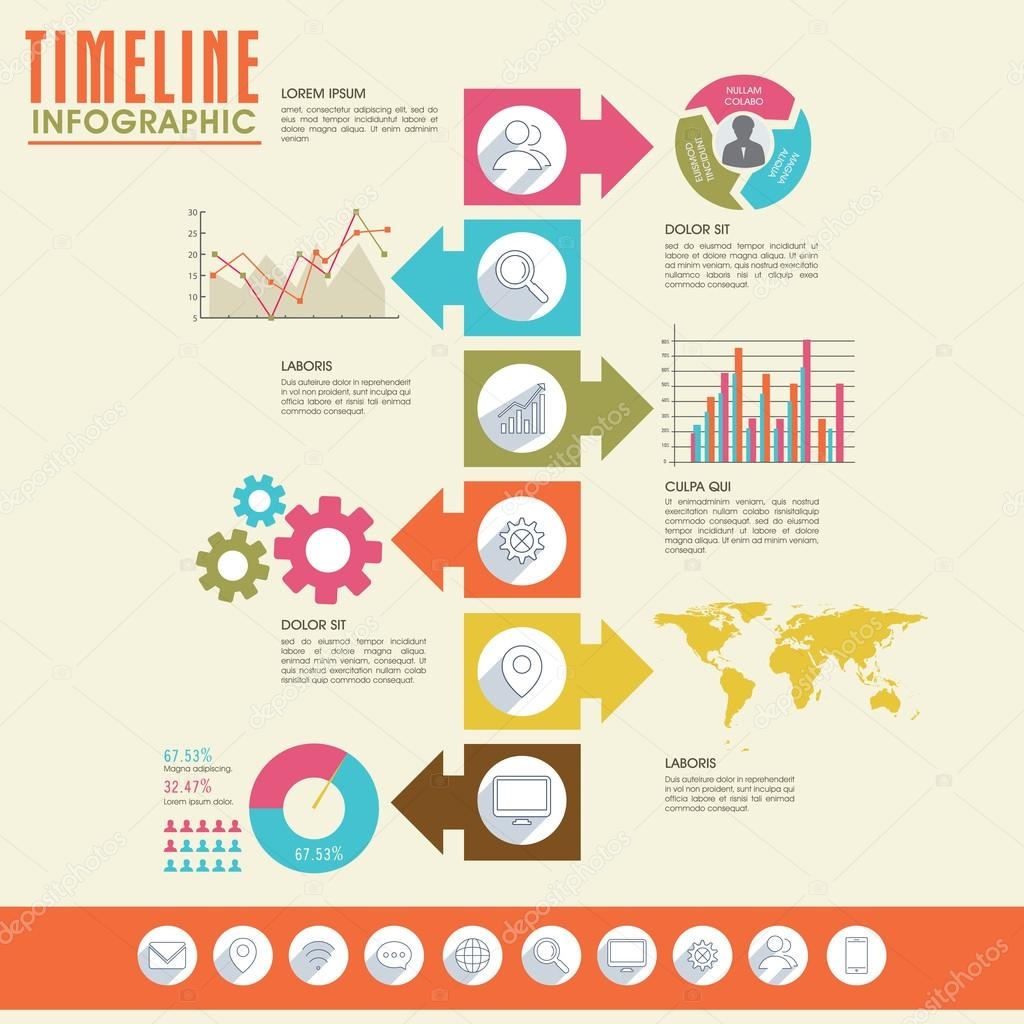Creative timeline infographic template layout. — Stock Vector ...