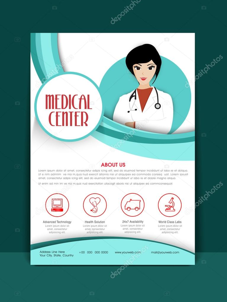 Medical Center Template, Brochure or Flyer.