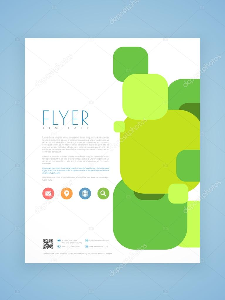professional flyer template or brochure design stock vector