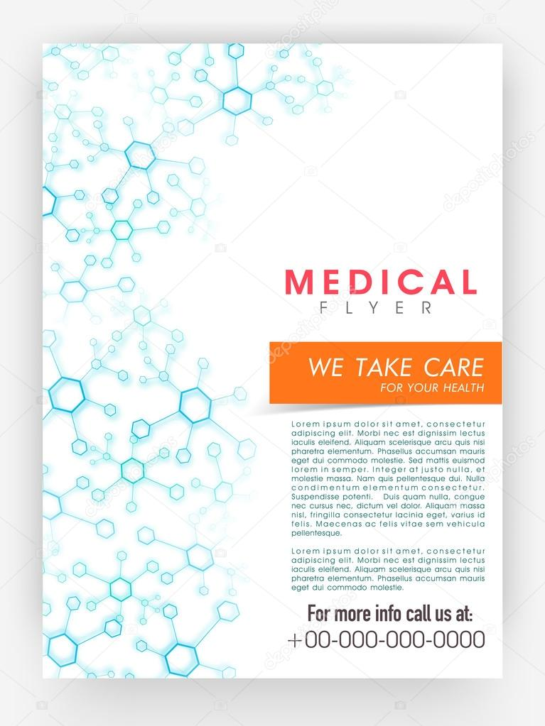 Medical flyer, template or brochure design.