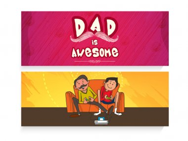 Website header or banner for Father's Day.