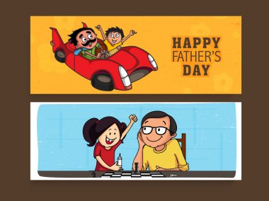 Website header or banner or Father's Day celebrations.