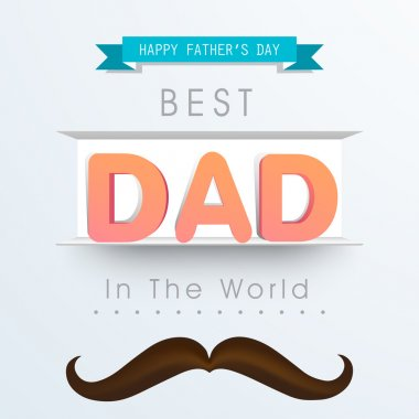 Greeting card with stylish text for Father's Day.