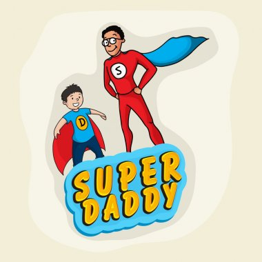 Super Daddy with son for Father's Day celebration.