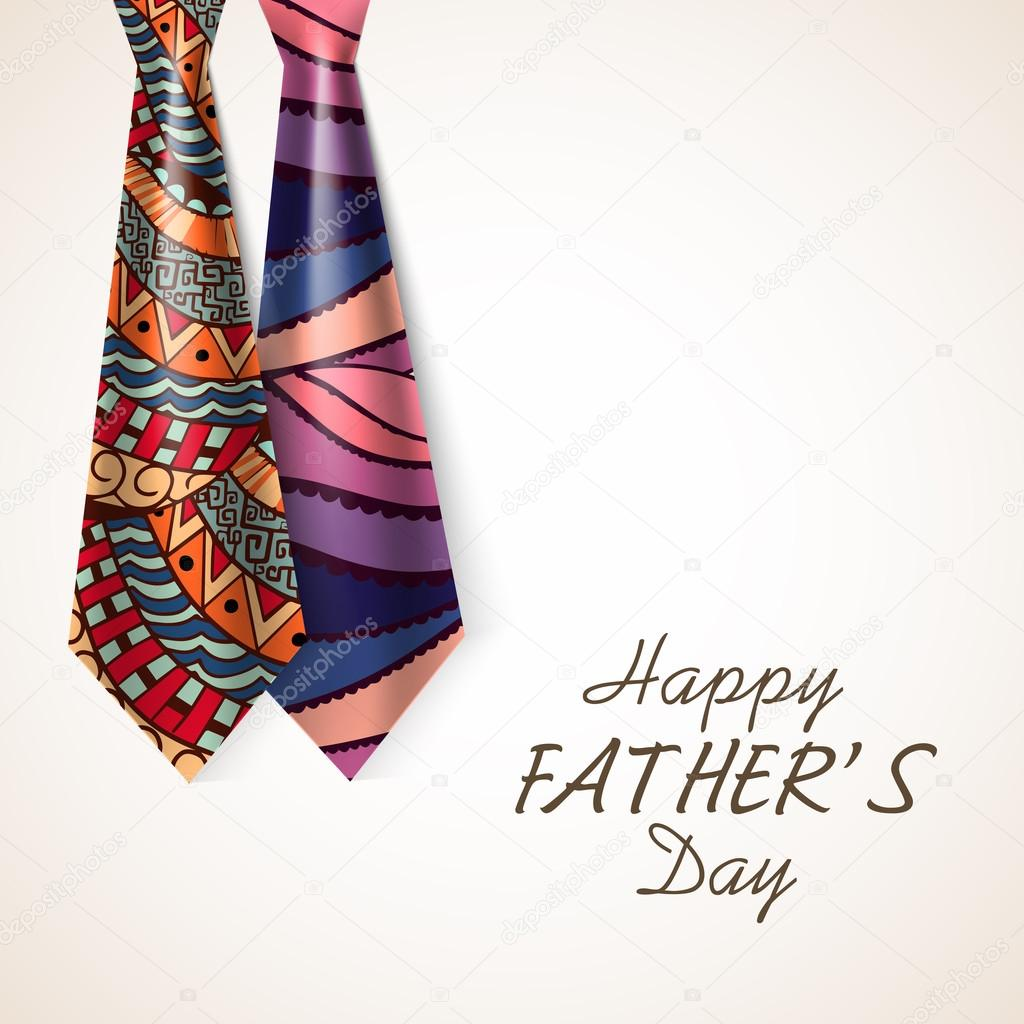 Glossy ties for Happy Father's Day celebration.