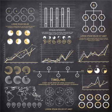 Creative infographic elements set for business.