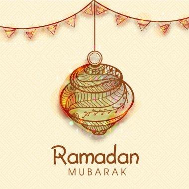 Floral lantern for Ramadan Mubarak celebration.