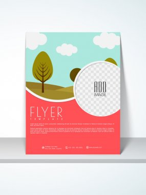 Flyer, template or banner for Ecology.