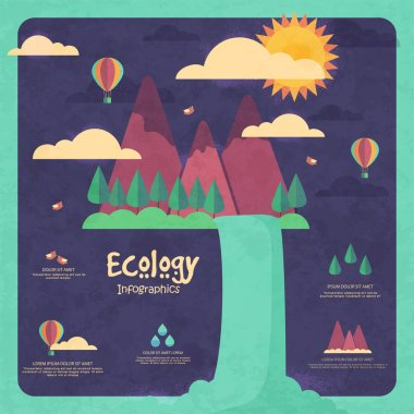 Creative ecological infographic template layout.
