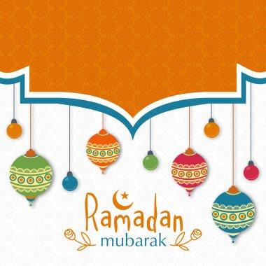 Beautiful greeting card for Ramadan Mubarak celebration.