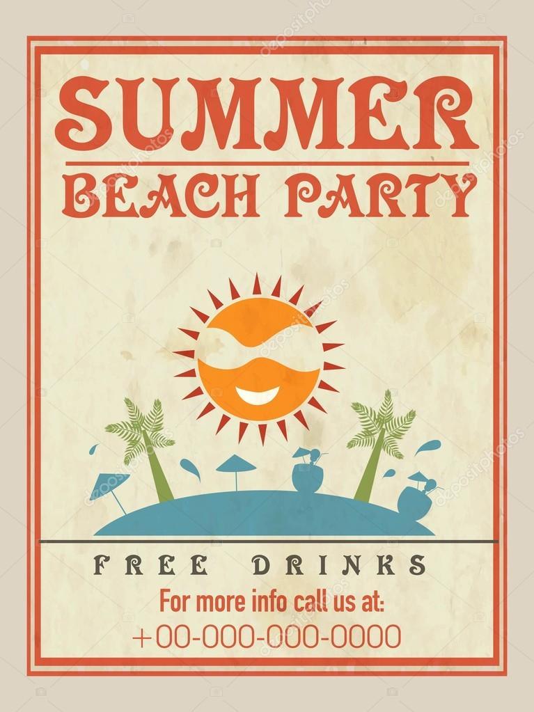 Beach Party Flyer, Vorlage oder Broschüre design — Stockvektor ...