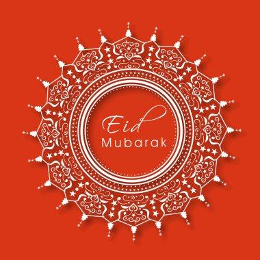 Beautiful floral frame for Eid Mubarak celebration.