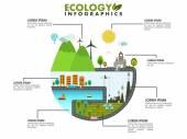 Fényképek ökológia infographic elrendezésének mentése
