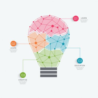 Idea infographic elements with light bulb.
