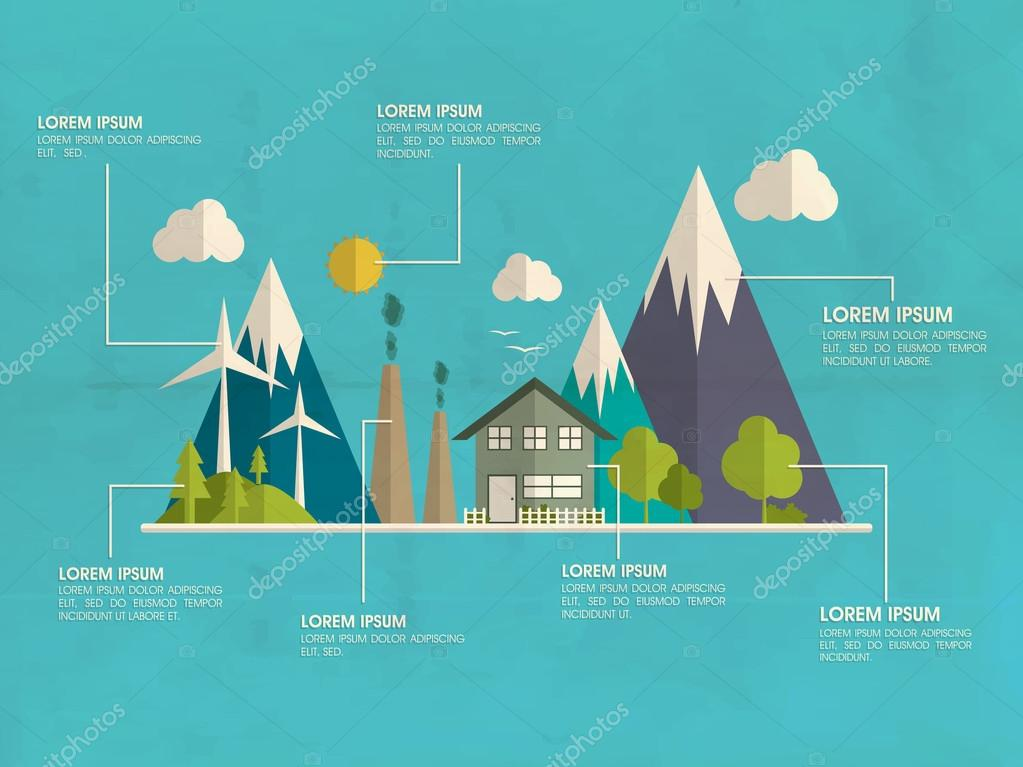 Save ecology infographic layout.