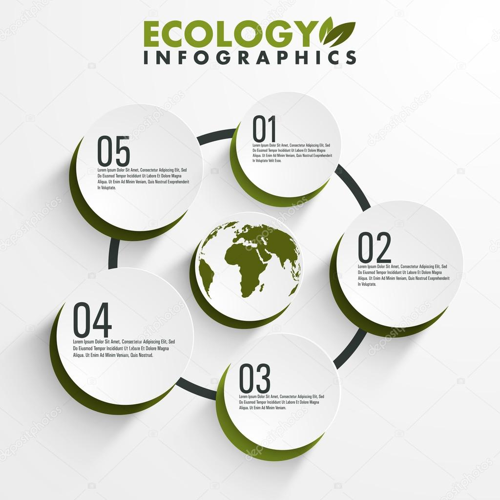 Ecology infographic elements.