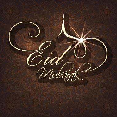 Greeting card design for Eid festival celebration.