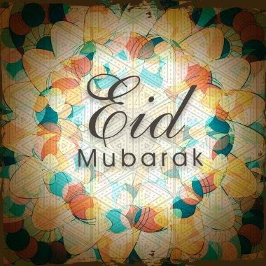 Islamic festival, Eid celebration background with stylish text.