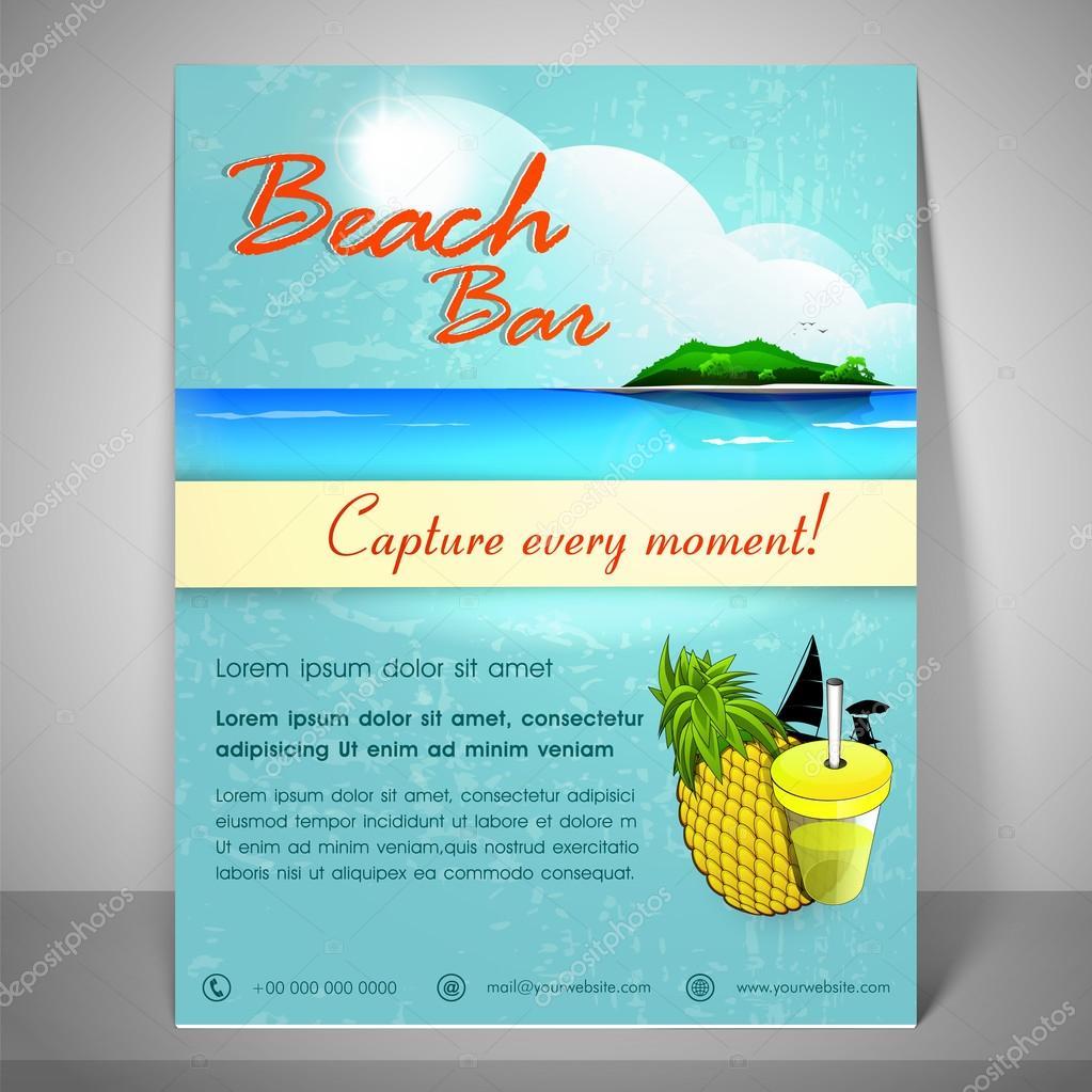 Stilvolle Flyer, Broschüre oder eine Vorlage für den Tourismus ...