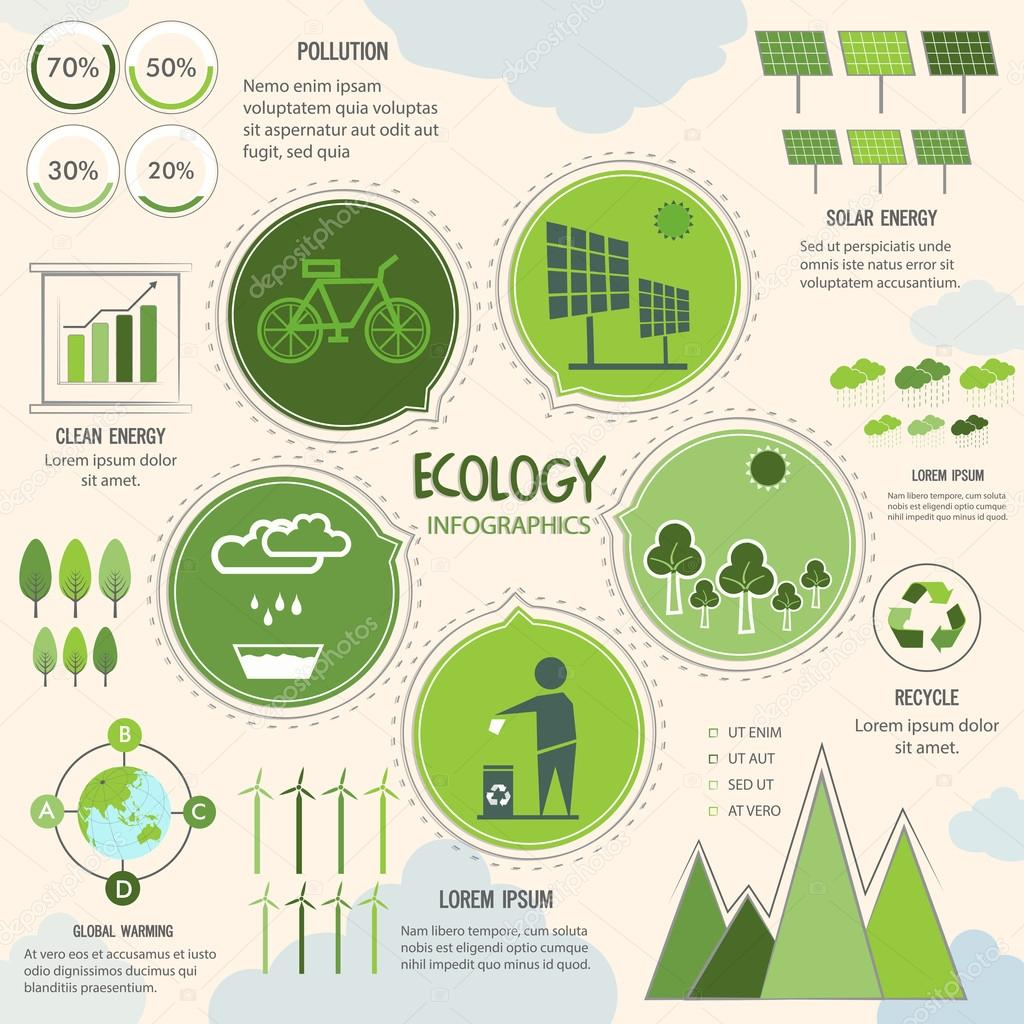 Creative Ecology Infographic elements.