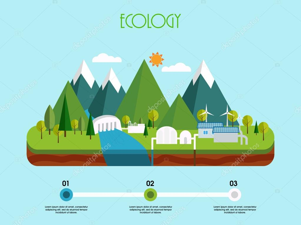 Creative infographic elements for ecology concept.