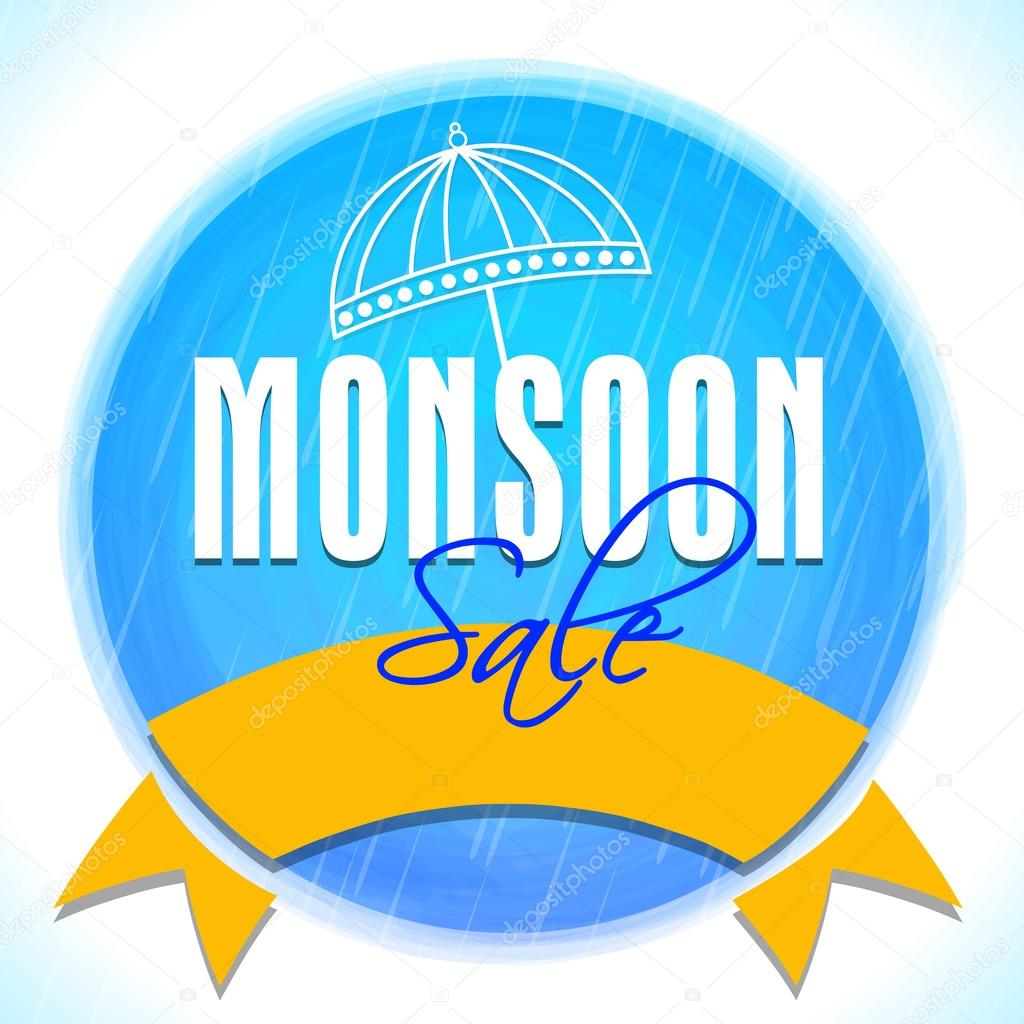 Sticky design for Monsoon Sale.
