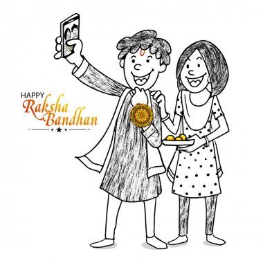 Happy brother and sister for Raksha Bandhan.