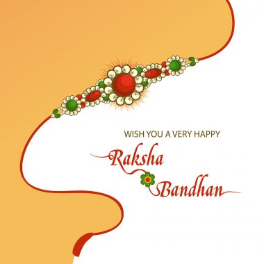 Greeting card for Raksha Bandhan celebration.
