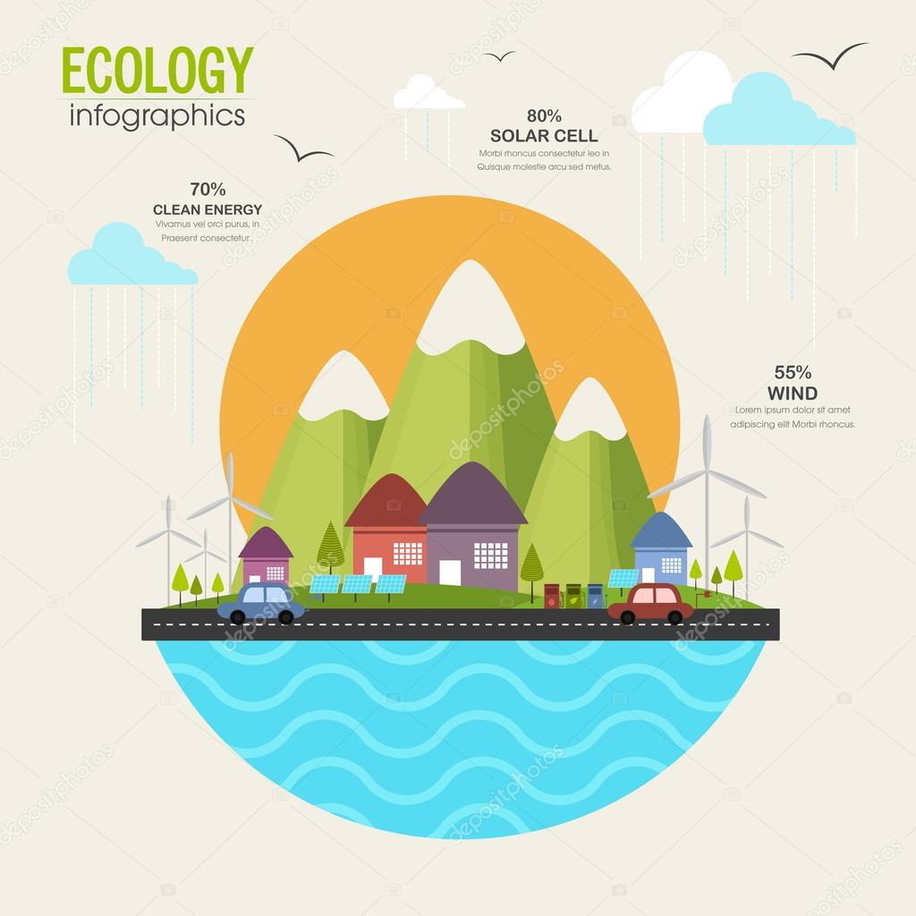 Creative ecology infographic elements layout.
