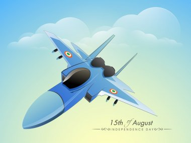 Fighter plane for Indian Independence Day.