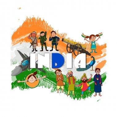 Indian Independence Day celebration concept.