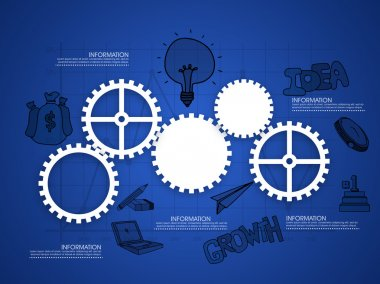 Cogwheels infographic for business.