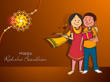 Brother and sister for Raksha Bandhan celebration.