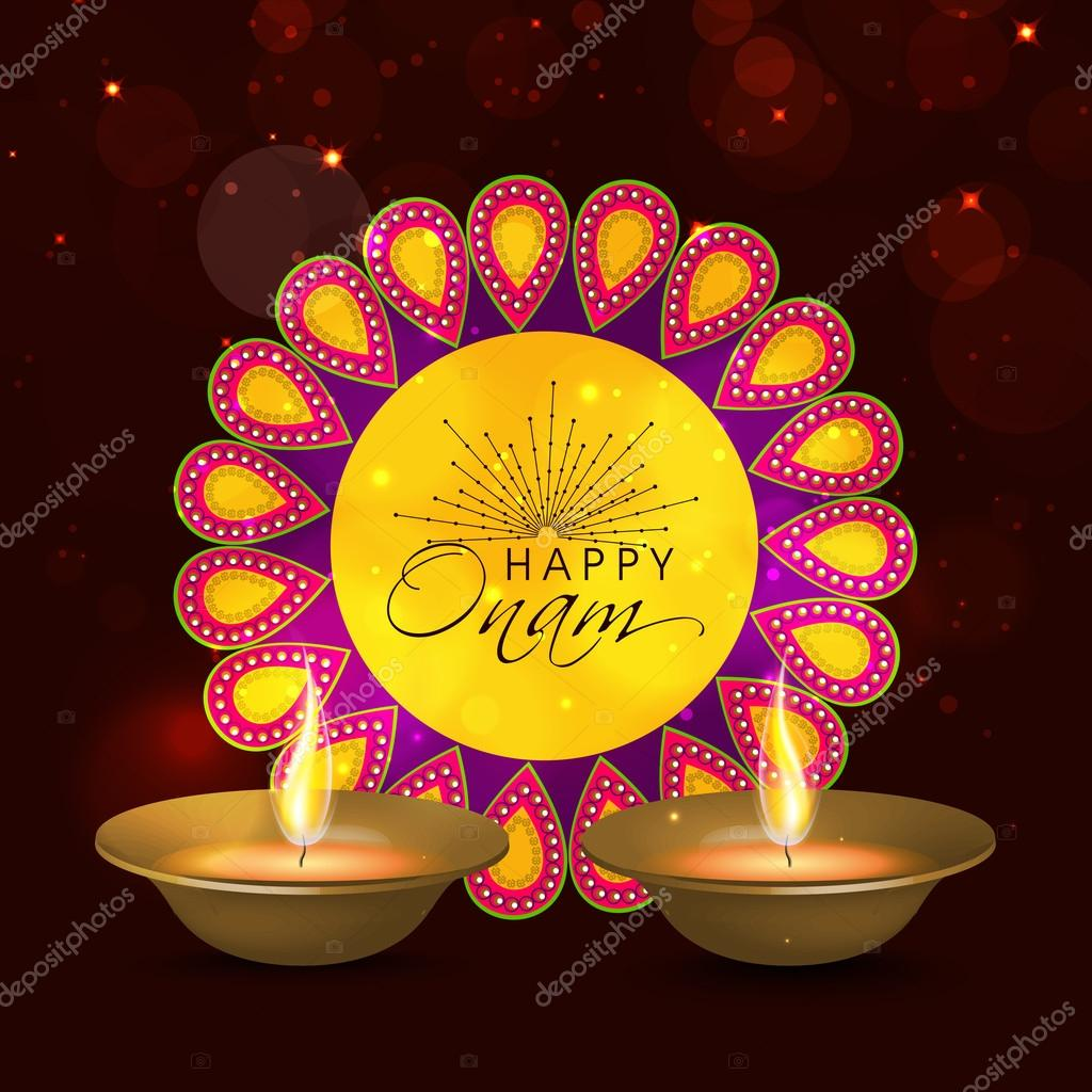 Greeting card for happy onam celebration stock vector greeting card for happy onam celebration stock vector m4hsunfo